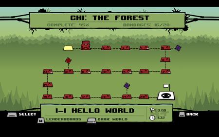 Super Meat Boy Forest Easy Mode
